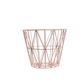 Wire Basket Rose- Medium