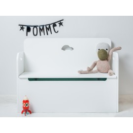POMME bench with car design - white/mint