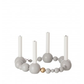Candleholder String - Grey