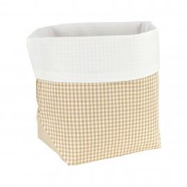Fabric Basket Check Sand