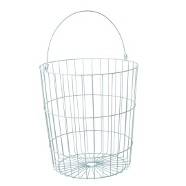 Wire Basket Round - Mint