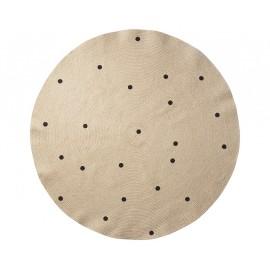 Jute carpet Black dots - Large