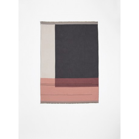 Colour block throw - Rose