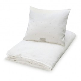 Adult bedding creme w. dots gold