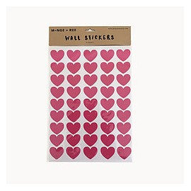 Wall sticker - pink hearts