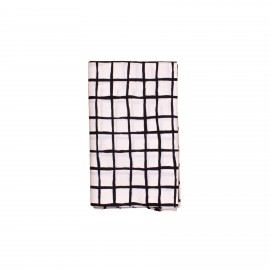 Single bedsheet black grid