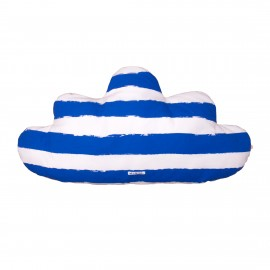 Cloud Pillow Large blue stripes