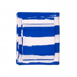 Kids bedding blue stripes