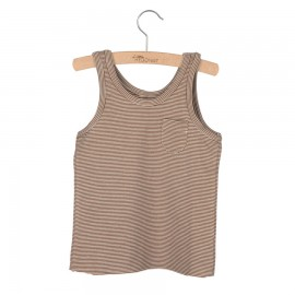 Tank top Lily - brown/white striped