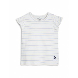 Stripe Rib Wing Tee Light Blue