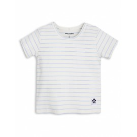 Stripe Rib Tee Light Blue