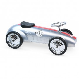Vilac Metal car - New ride on racing car - silver