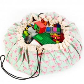 Play and go storage bag - flamingo
