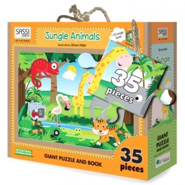 Jungle Animals puzzle and book