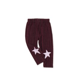 Baby Star striped leggings - plum