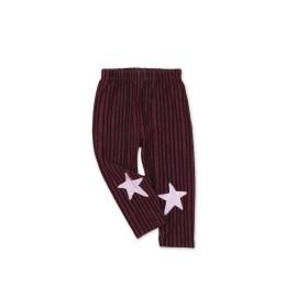 Baby Star striped leggings - plum