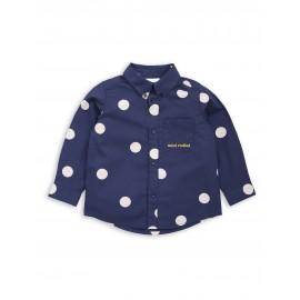 Dot woven shirt navy