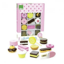 Wooden pastry set
