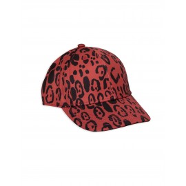 Leopard cap - red
