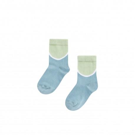 Socks- smokeblue/mint