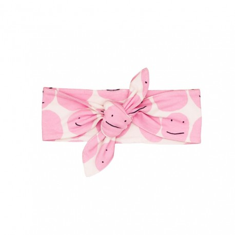 Baby head band - pink smiley