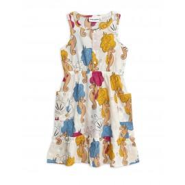 Seahorse woven flounce dress