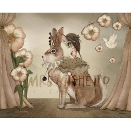 "Mrs. Mighetto 50X70"" Miss Poppy"" print"