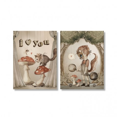 Mrs. Mighetto Greeting cards 2 pack - love