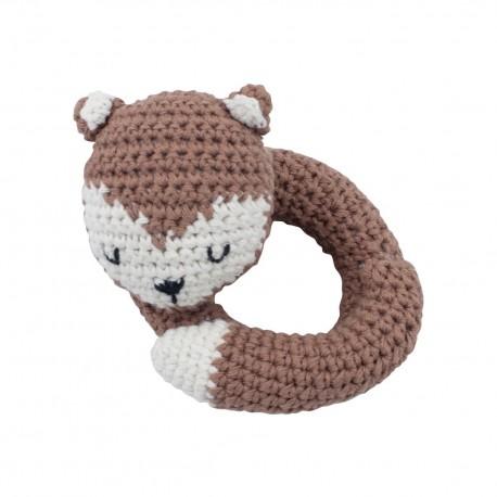 Crochet rattle Sparky the fox