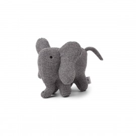 Vigga knit mini teddy- elephant grey melange