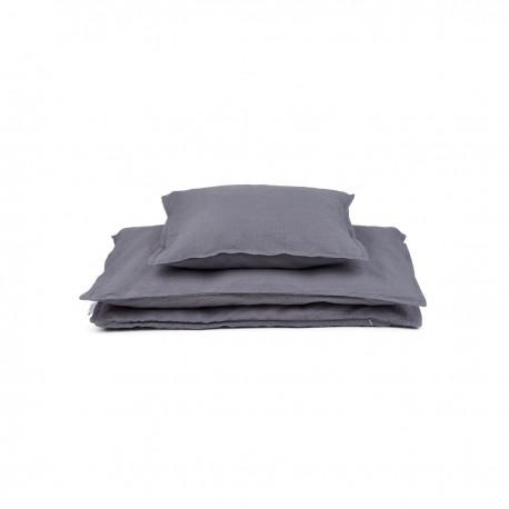 Louise single bedding - stone grey