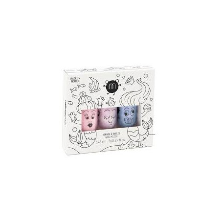 Nail polish set of 3 - Mermaid