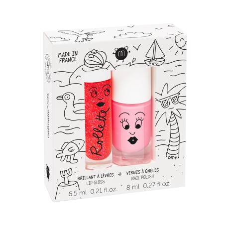Holiday lip gloss and polish duo