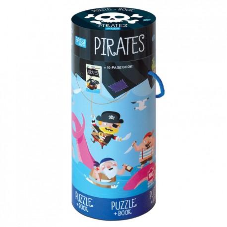 Pirates Book+Giant Puzzle