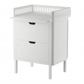Sebra Changing Table Kili in white - drawers