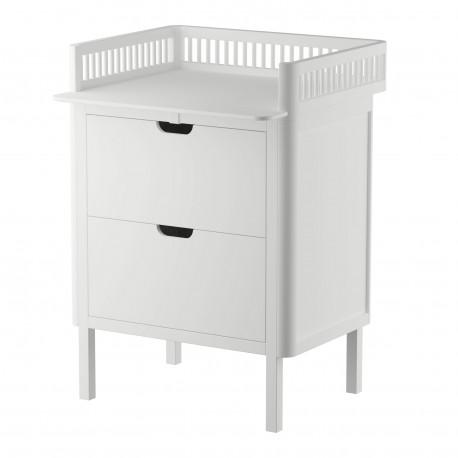 Sebra Changing Table Kili in white - drawers