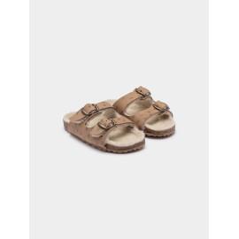 Star sheepskin sandals