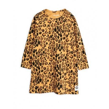 Basic leopard long sleeve dress