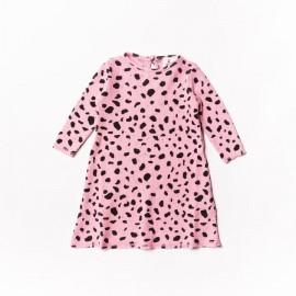 Baby waffle dress - pink mash