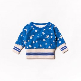 Baby fleece sweater - imperial stars