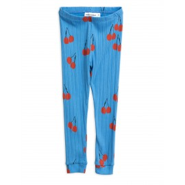 Cherry leggings - blue