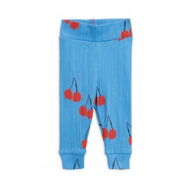 Cherry newborn leggings - blue