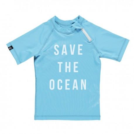 """Safe the Ocean"" UV swim tee"