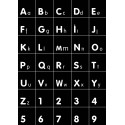 Alphabet/number wall decal black