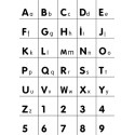 Alphabet/Number wall decal white