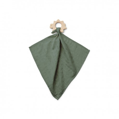 Dines teether cuddle cloth - Dino faune green