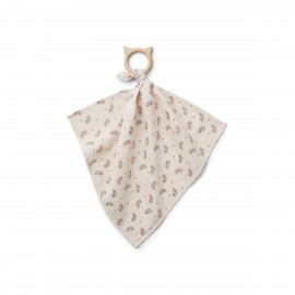 Dines teether cuddle cloth - Fern rose
