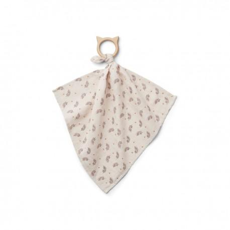 Dines teether cuddle cloth - Fern rose