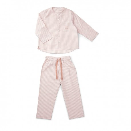 Olly Pyjamas Set - Stripes rose/ white