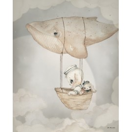 Mrs. Mighetto FLYING WHALE, 40x50cm